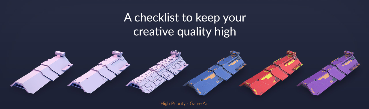 High Priority - Game Art - The 5 point of quality - banner