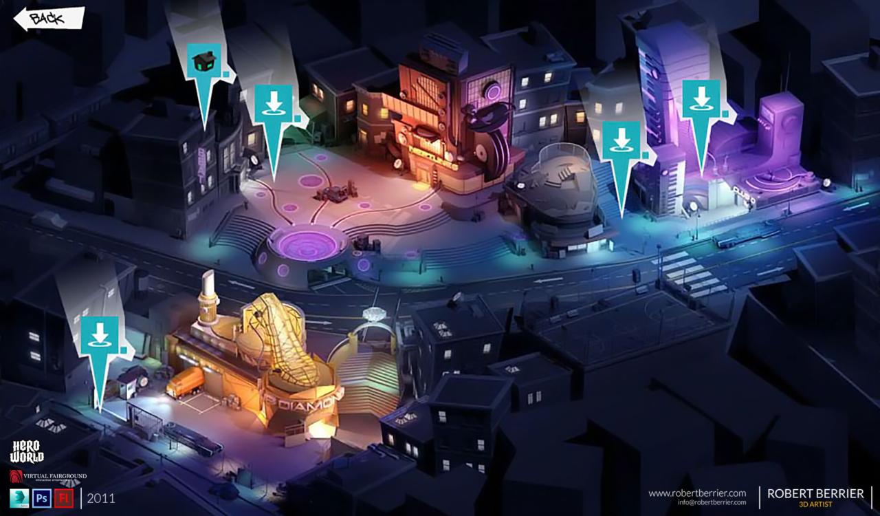 Robert Berrier 2011 Activision Hero World Map