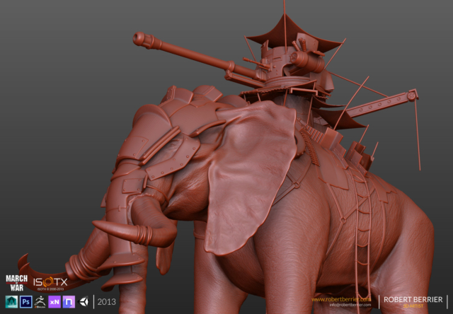 Robert Berrier - 2013 - March of War - War Elephant - HP 09