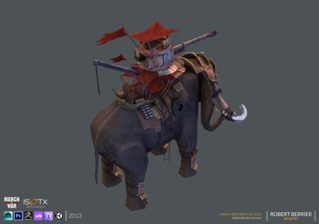 Robert Berrier - 2013 - March of War - War Elephant - 03
