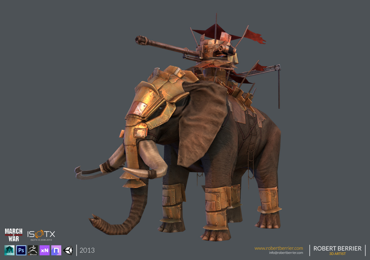 Robert Berrier - 2013 - March of War - War Elephant - 06