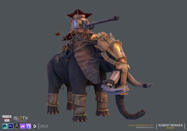Robert Berrier - 2013 - March of War - War Elephant - 07