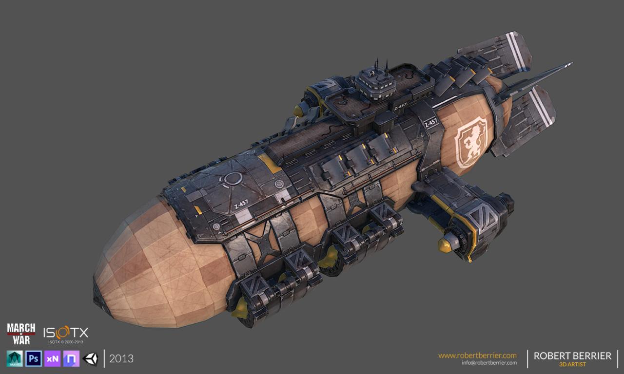 Robert Berrier - 2013 - March of War - War Zeppelin - 01