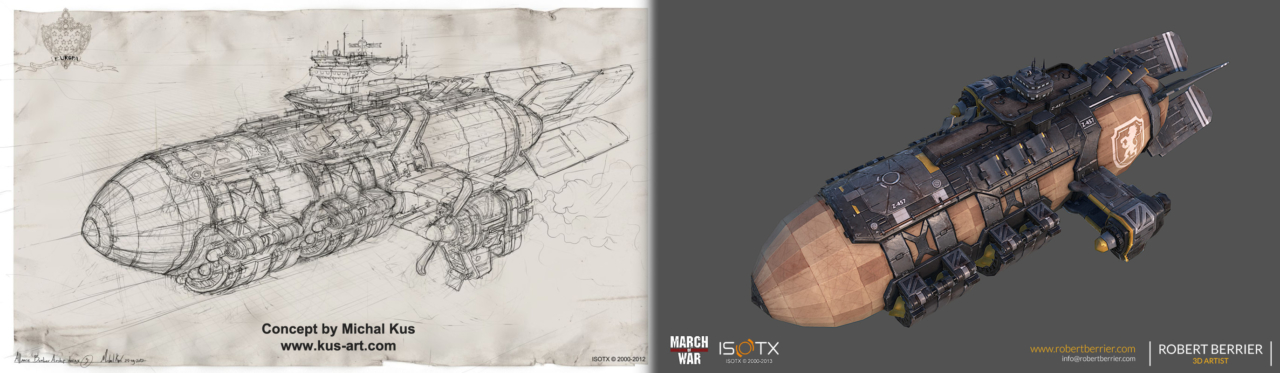 RoRobert Berrier - 2013 - March of War - War Zeppelin - Concept