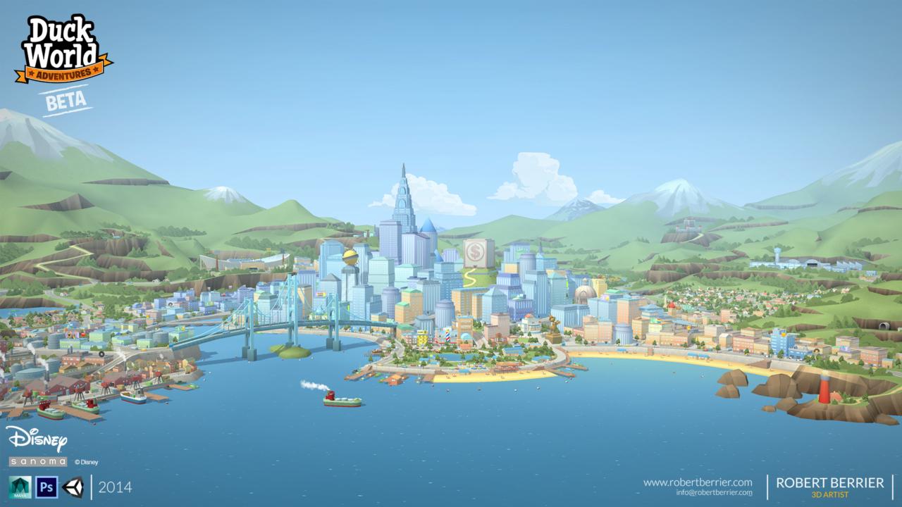 Robert Berrier - 2014 - Disney Duck World - Hub