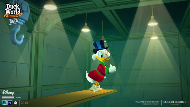 Robert Berrier - 2014 - Disney Duck World - Money Dive