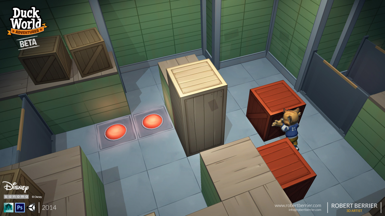 Robert Berrier - 2014 - Disney Duck World - Push the Crate