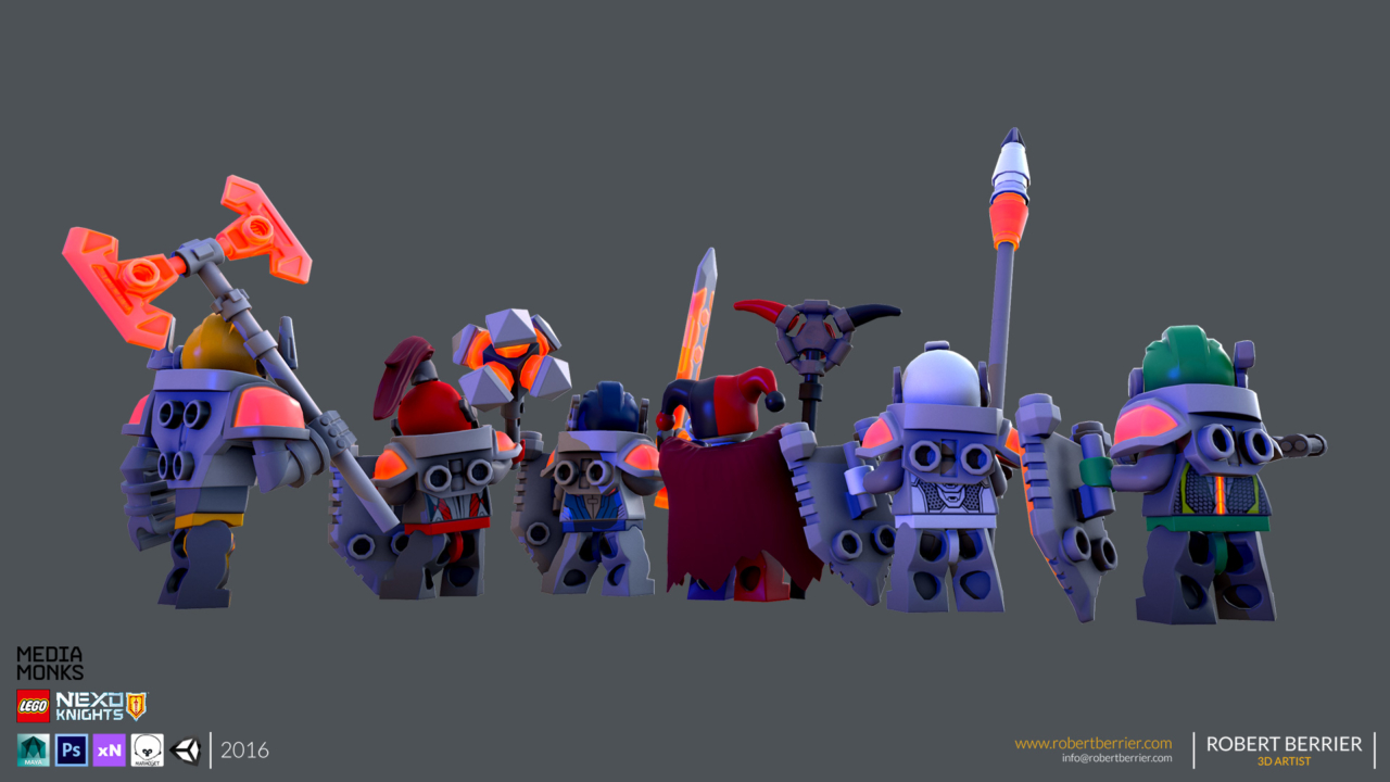Robert Berrier - 2016 - Lego Nexo Knigths - Group Back