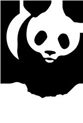 WWF Logo White Small